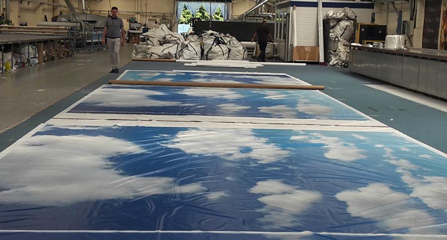 5 metre sky printed ceiling