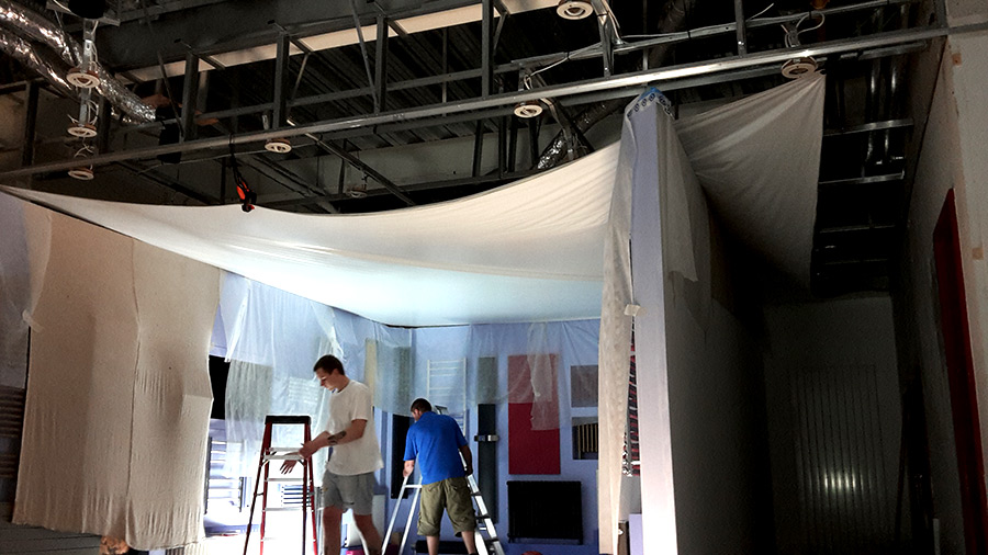 showroom stretch ceilings