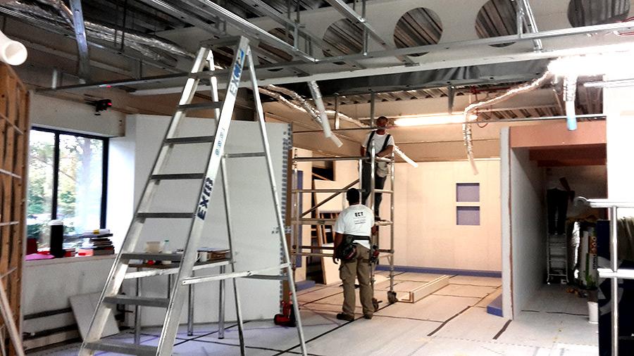 stretch showroom ceilings
