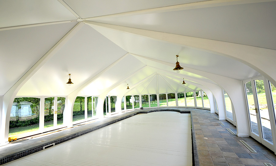 swimming pool stretch ceiling-2